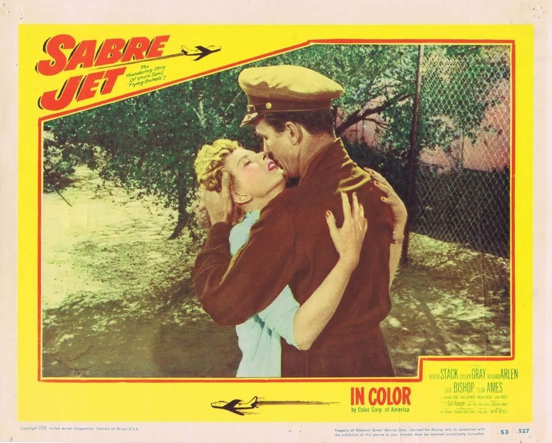SABRE JET Lobby Card 5 Robert Stack Coleen Gray Richard Arlen