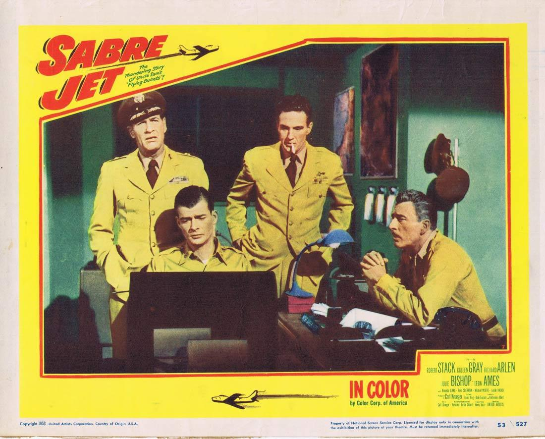 SABRE JET Lobby Card 7 Robert Stack Coleen Gray Richard Arlen