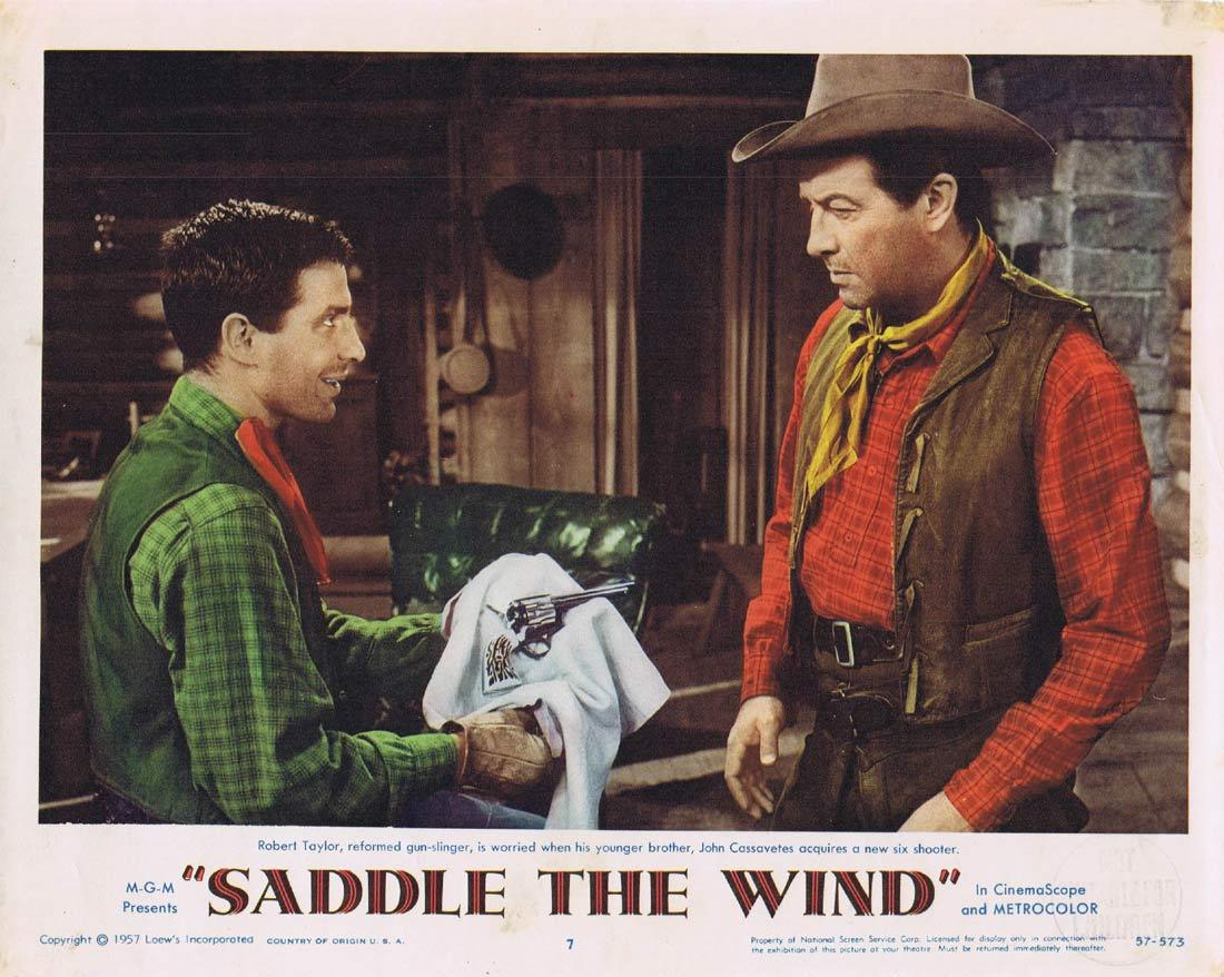 SADDLE THE WIND Original Lobby Card Robert Taylor John Cassavetes