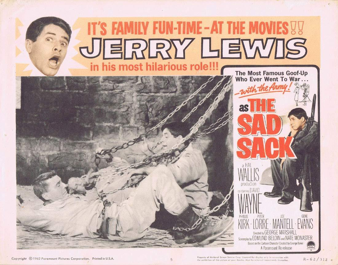 THE SAD SACK Original Lobby Card 1 JERRY LEWIS 1962r Peter Lorre