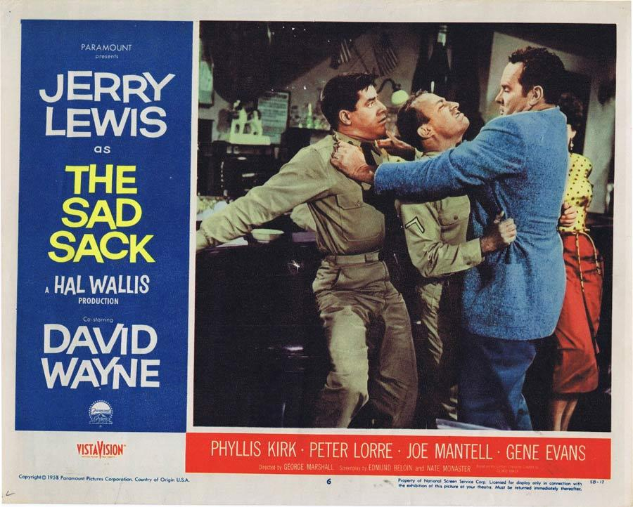 THE SAD SACK Vintage Original Lobby Card 6 Jerry Lewis