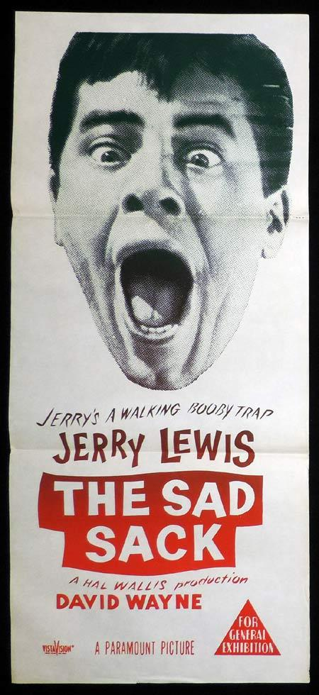 THE SAD SACK Original Daybill Movie Poster Anthony Perkins Jerry Lewis