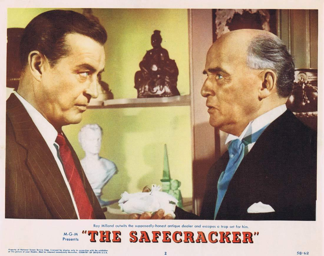 THE SAFECRACKER Lobby Card 2 1958 Ray Milland