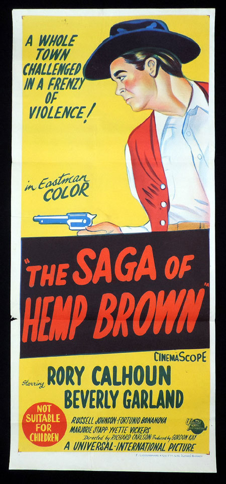 THE SAGA OF HEMP BROWN 1958 Rory Calhoun VINTAGE Daybill Movie poster