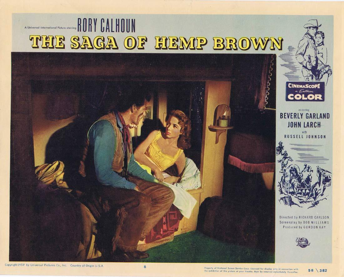 THE SAGA OF HEMP BROWN Original Lobby Card Rory Calhoun Beverly Garland