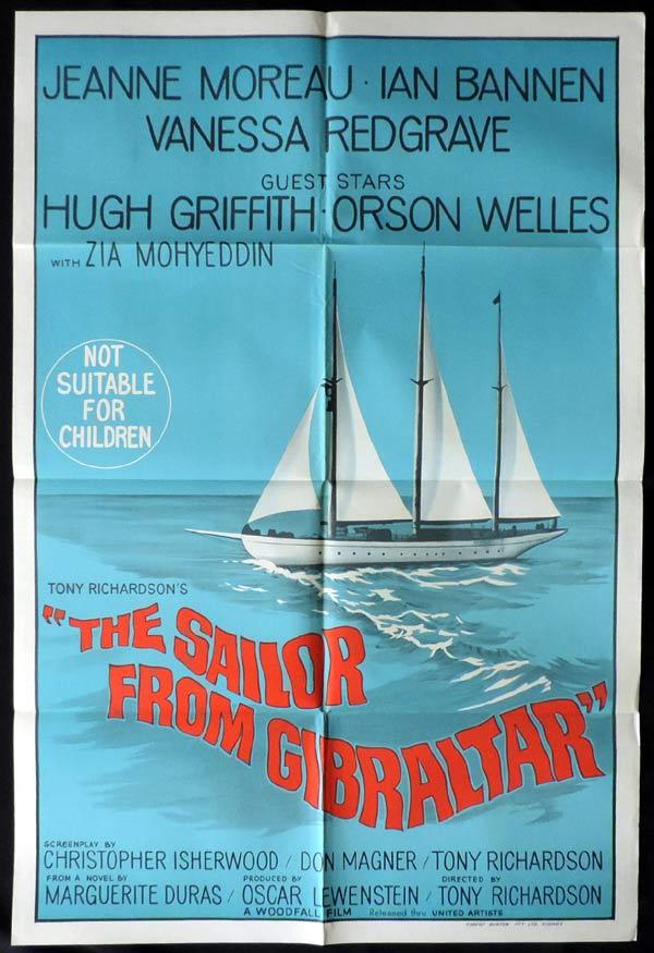THE SAILOR FROM GIBRALTAR One Sheet Movie Poster Jeanne Moreau