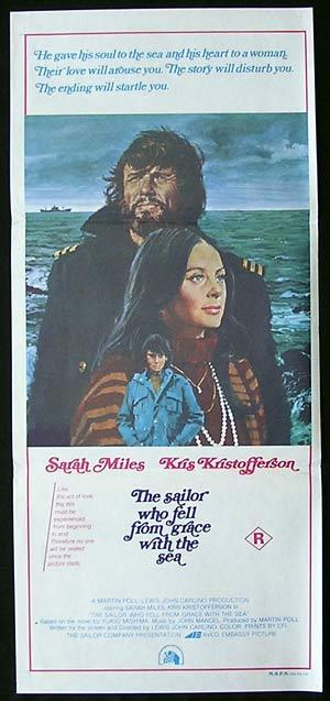 THE SAILOR WHO FELL FROM GRACE Daybill Movie Poster Kris Kristofferson