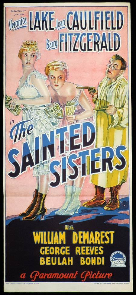 THE SAINTED SISTERS Daybill Movie poster RICHARDSON STUDIO Veronica Lake