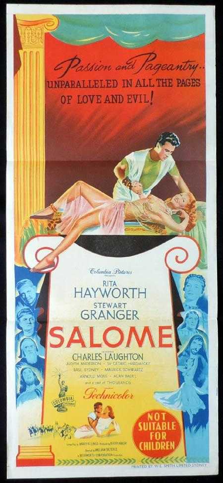 SALOME Original Daybill Movie Poster Rita Hayworth