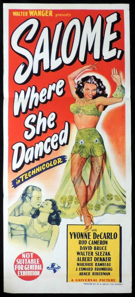 SALOME WHERE SHE DANCED Original Daybill Movie Poster Yvonne De Carlo