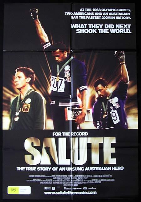 SALUTE Movie Poster 2008 MEXICO OLYMPICS Australian One sheet