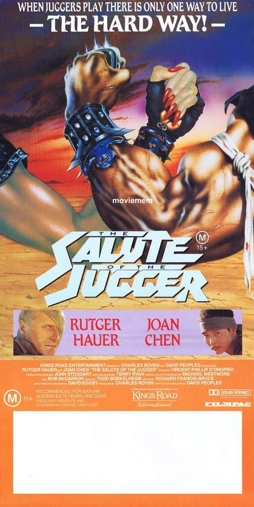 SALUTE OF THE JUGGER Original daybill Movie poster Blood of Heroes Rutger Hauer