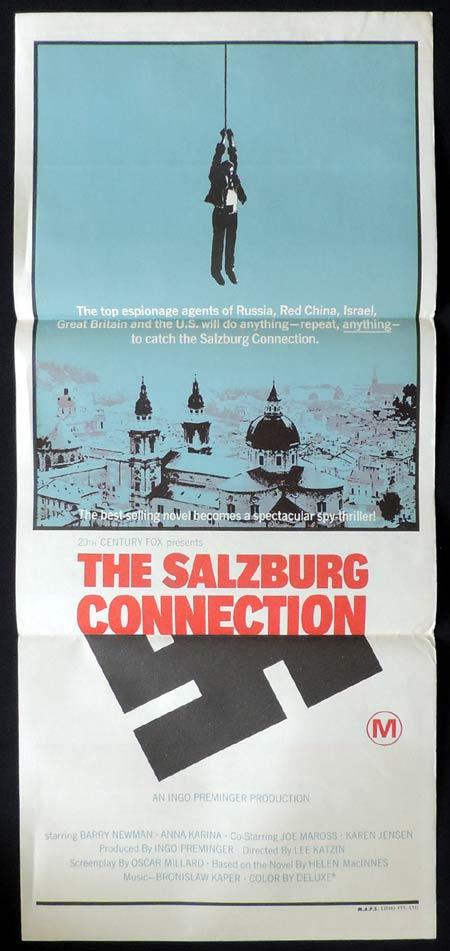 THE SALZBURG CONNECTION Original Daybill Movie Poster Barry Newman