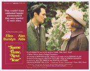 SAME TIME NEXT YEAR Original Lobby Card 1 Ellen Burstyn Alan Alda