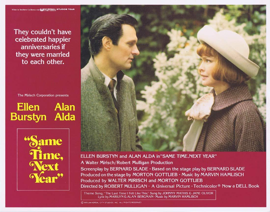 SAME TIME NEXT YEAR Original Lobby Card 1 Ellen Burstyn Alan Alda