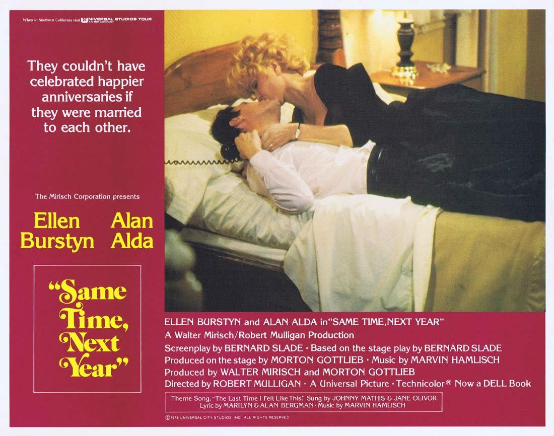 SAME TIME NEXT YEAR Original Lobby Card 2 Ellen Burstyn Alan Alda