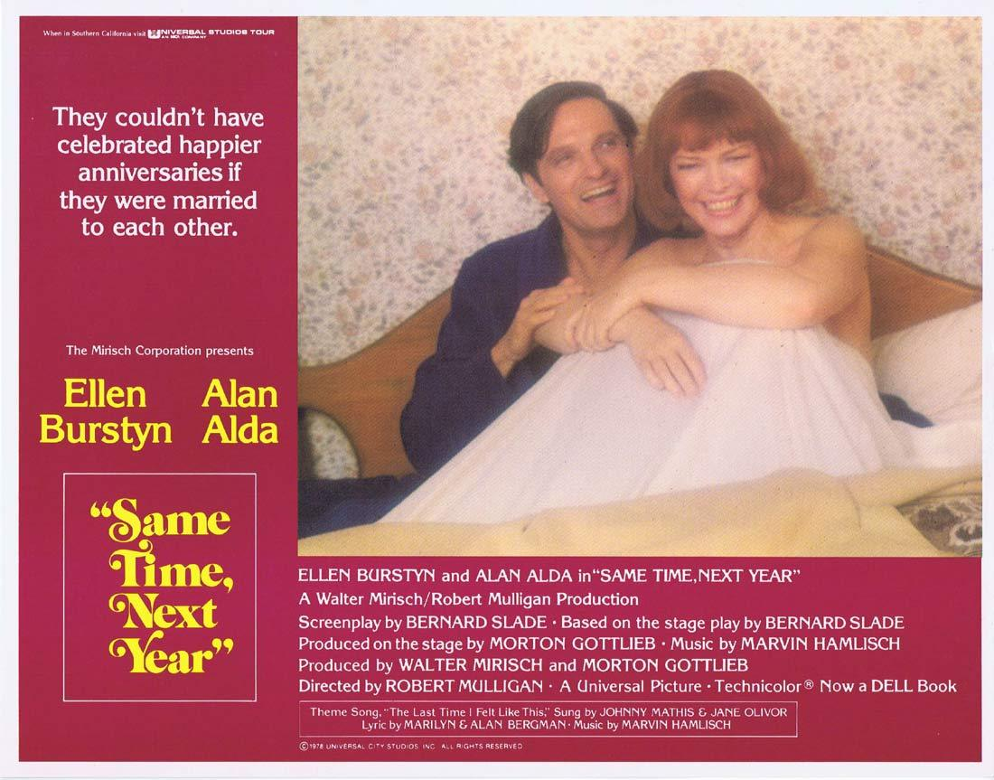 SAME TIME NEXT YEAR Original Lobby Card 3 Ellen Burstyn Alan Alda