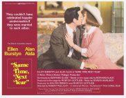 SAME TIME NEXT YEAR Original Lobby Card 4 Ellen Burstyn Alan Alda