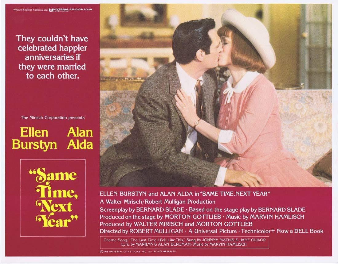 SAME TIME NEXT YEAR Original Lobby Card 4 Ellen Burstyn Alan Alda