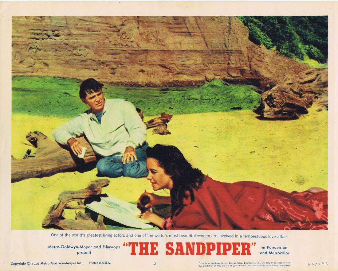 THE SANDPIPER Original Lobby Card 2 Elizabeth Taylor Richard Burton