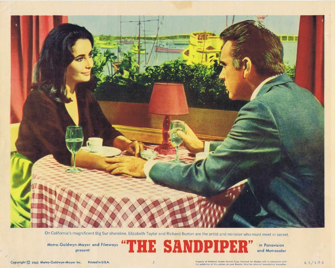 THE SANDPIPER Original Lobby Card 3 Elizabeth Taylor Richard Burton