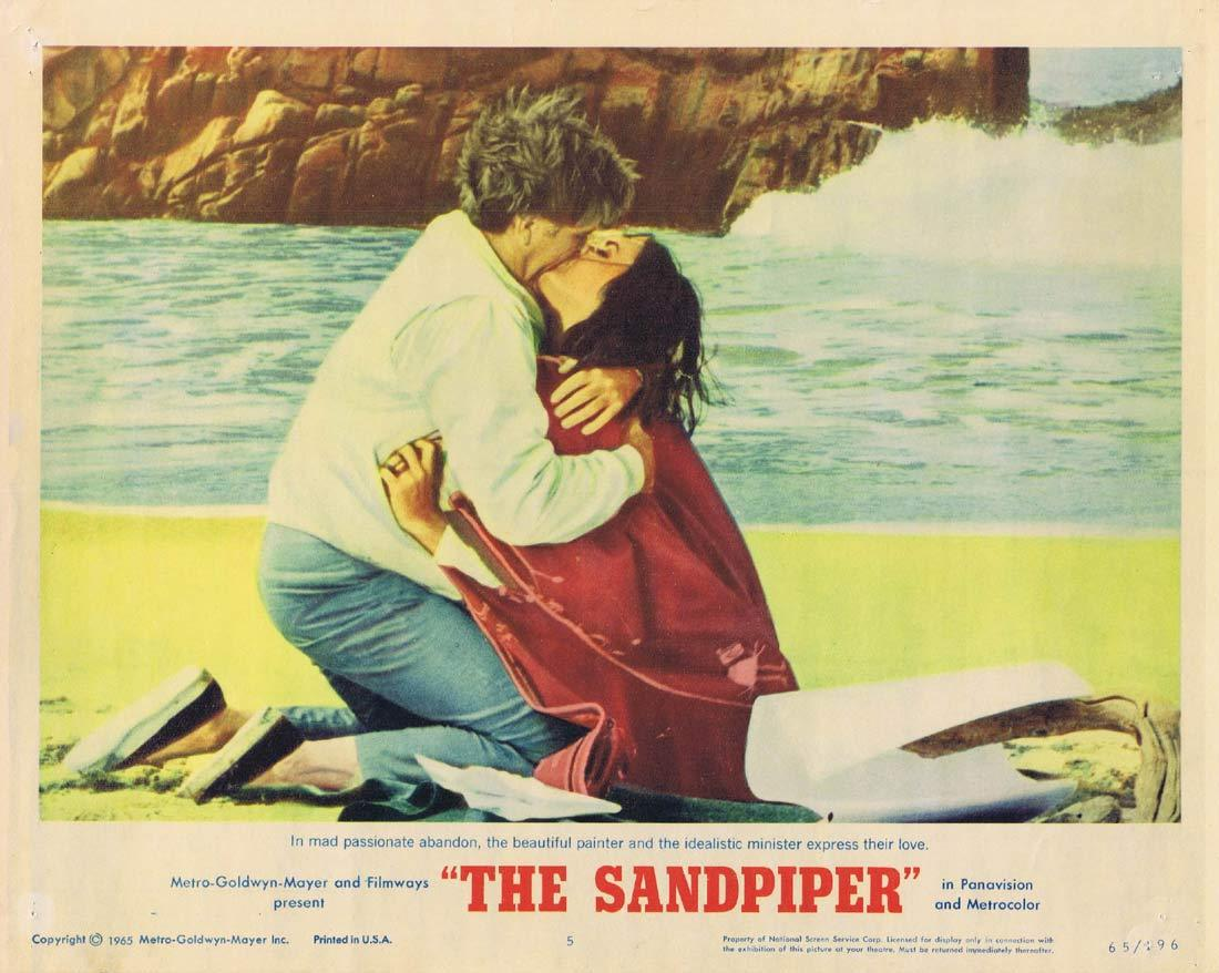THE SANDPIPER Original Lobby Card 5 Elizabeth Taylor Richard Burton