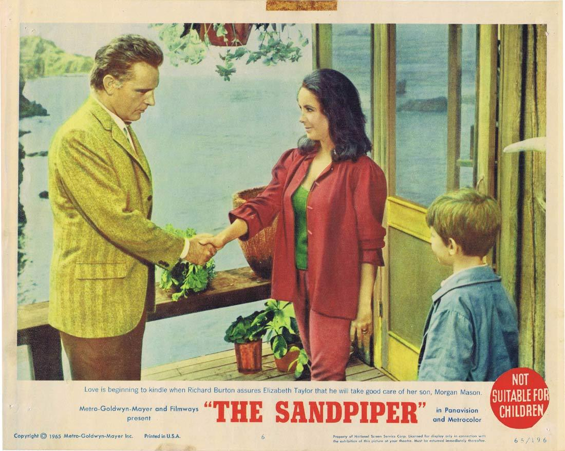 THE SANDPIPER Original Lobby Card 6 Elizabeth Taylor Richard Burton