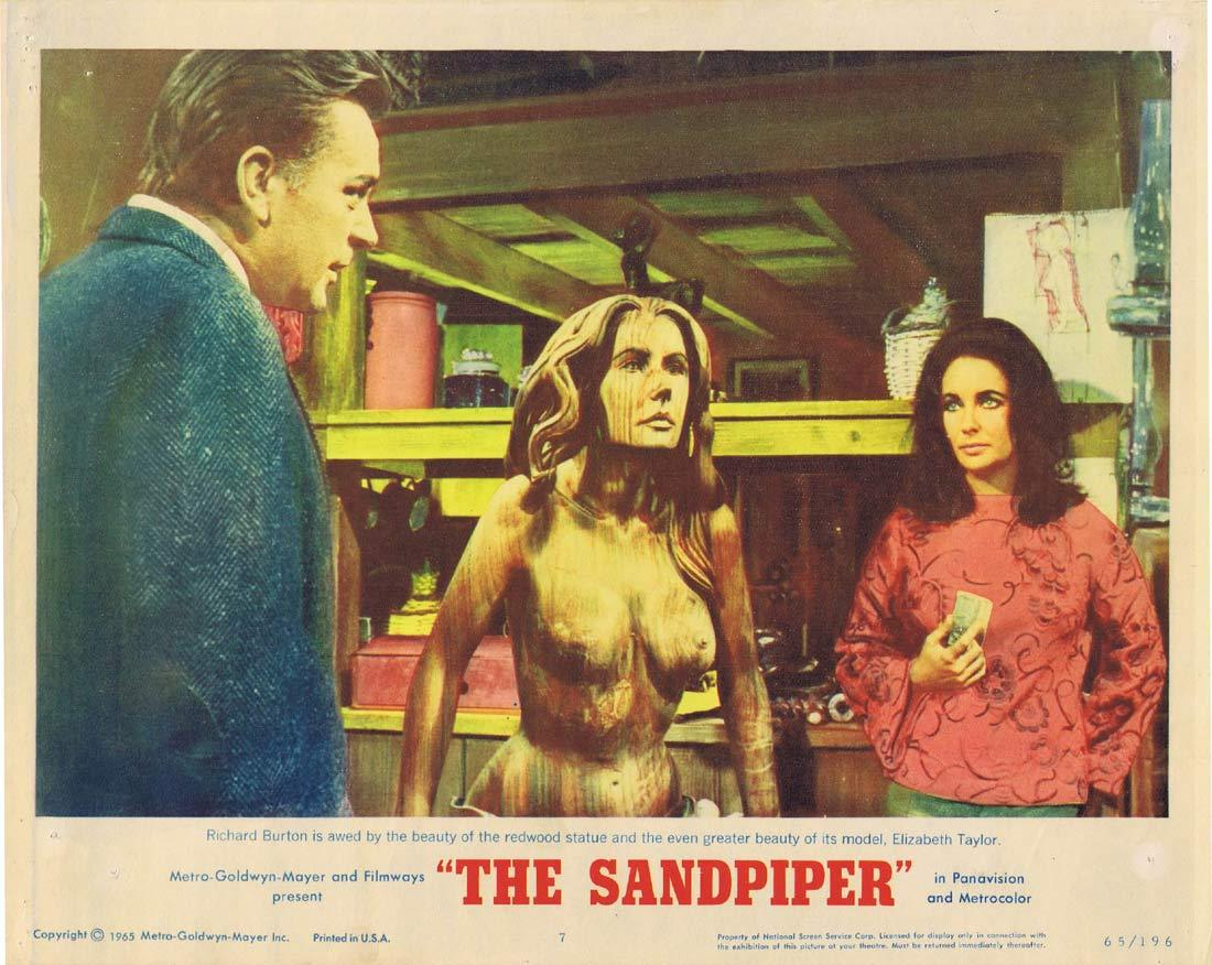 THE SANDPIPER Original Lobby Card 7 Elizabeth Taylor Richard Burton