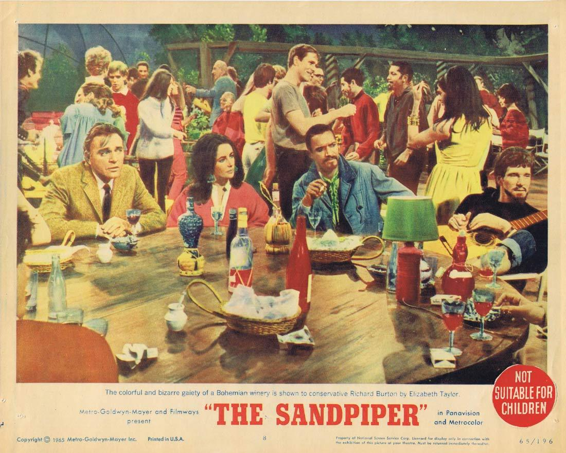 THE SANDPIPER Original Lobby Card 8 Elizabeth Taylor Richard Burton