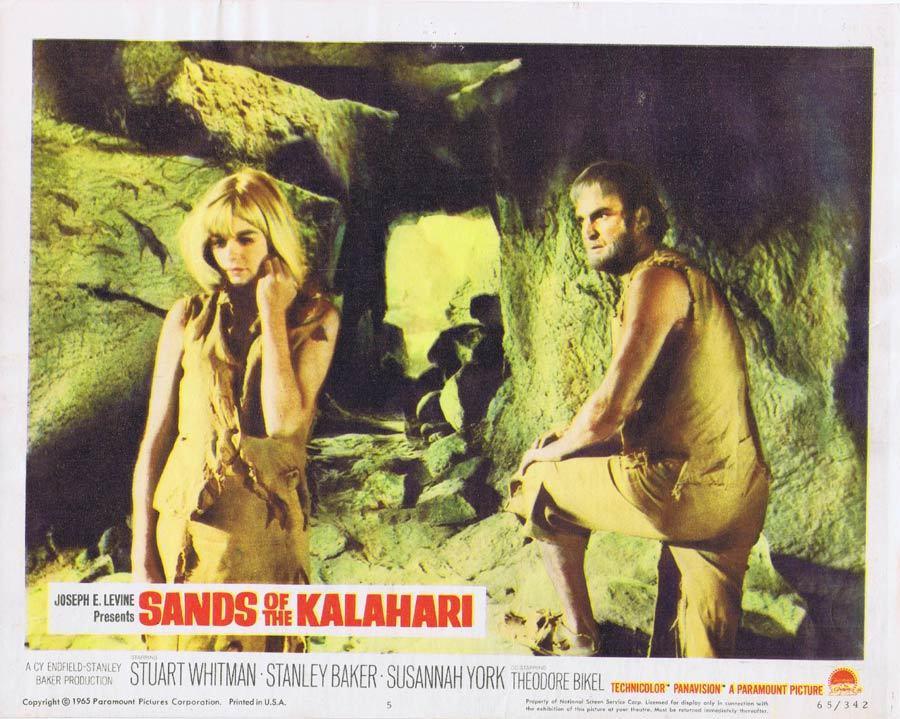 SANDS OF THE KALAHARI Lobby card 5 Stuart Whitman Stanley Baker