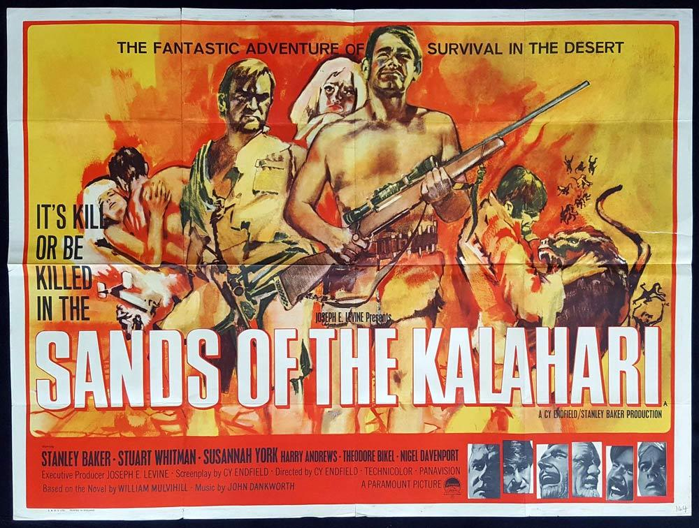 SANDS OF THE KALAHARI Original British Quad poster Stanley Baker Cy Endfield