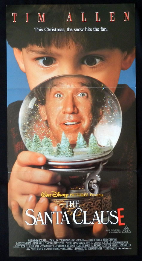 THE SANTA CLAUSE Tim Allen VINTAGE Daybill Movie poster