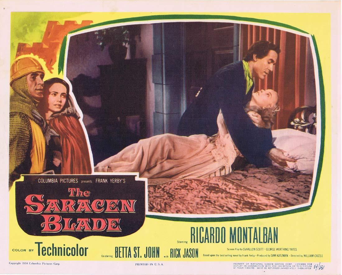 THE SARACEN BLADE Original Lobby Card Ricardo Montalban Betta St. John