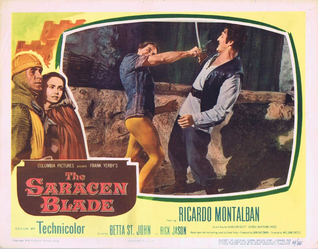 THE SARACEN BLADE Original Lobby Card 4 Ricardo Montalban Betta St. John