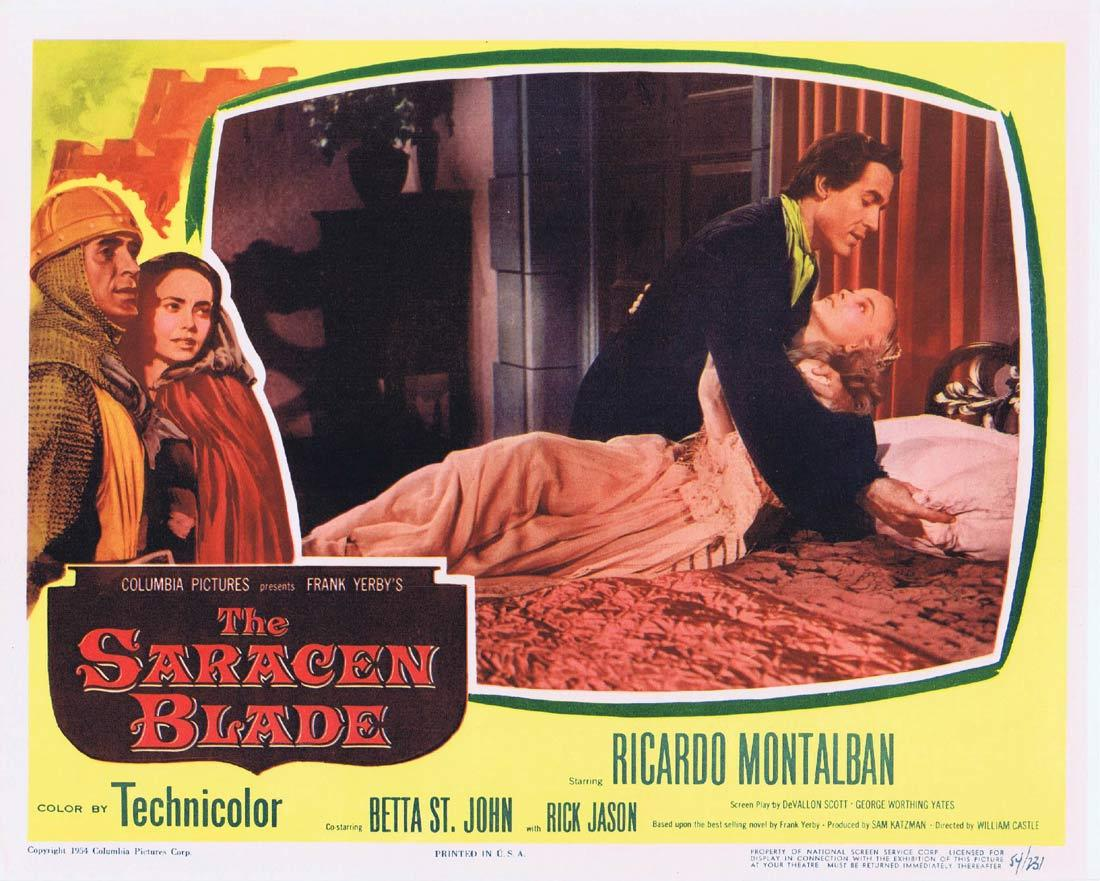 THE SARACEN BLADE Lobby Card 2 Ricardo Montalbán.William Castle