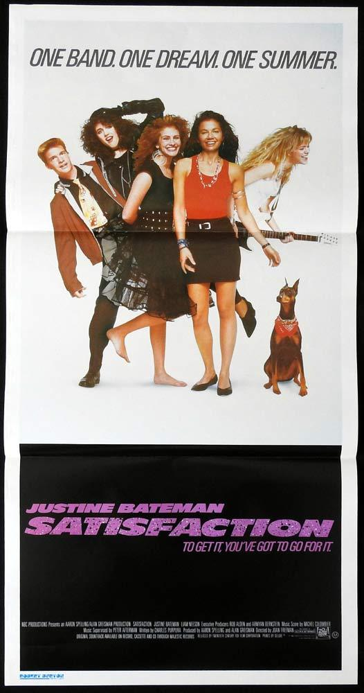 SATISFACTION Daybill Movie poster Justine Bateman Liam Neeson Julia Roberts