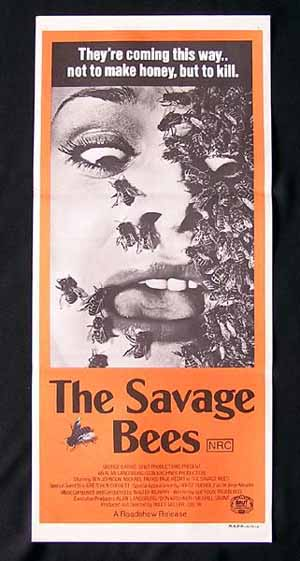 THE SAVAGE BEES Original daybill Movie poster Ben Johnson Sci FI