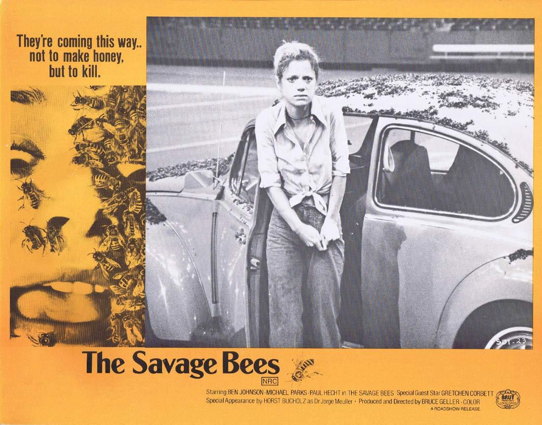 THE SAVAGE BEES Rare Australian Lobby Card 2 Ben Johnson Michael Parks
