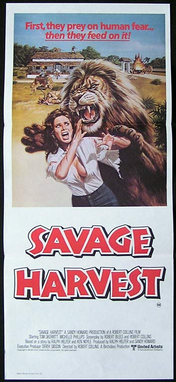 SAVAGE HARVEST daybill Movie poster Tom Skerritt Michelle Phillips
