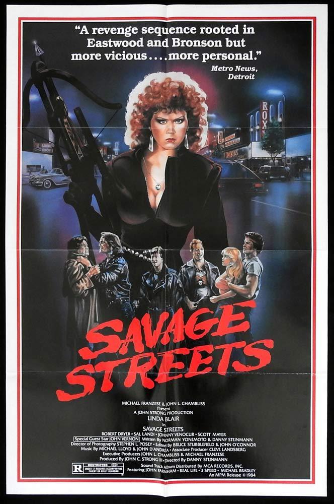 SAVAGE STREETS Original US One sheet Movie poster Linda Blair