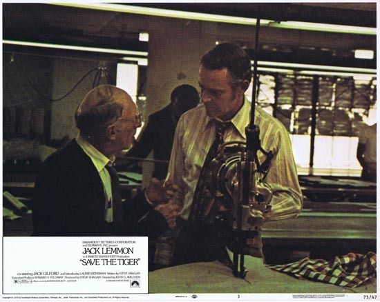 SAVE THE TIGER 1973 Lobby Card 3 Jack Lemmon