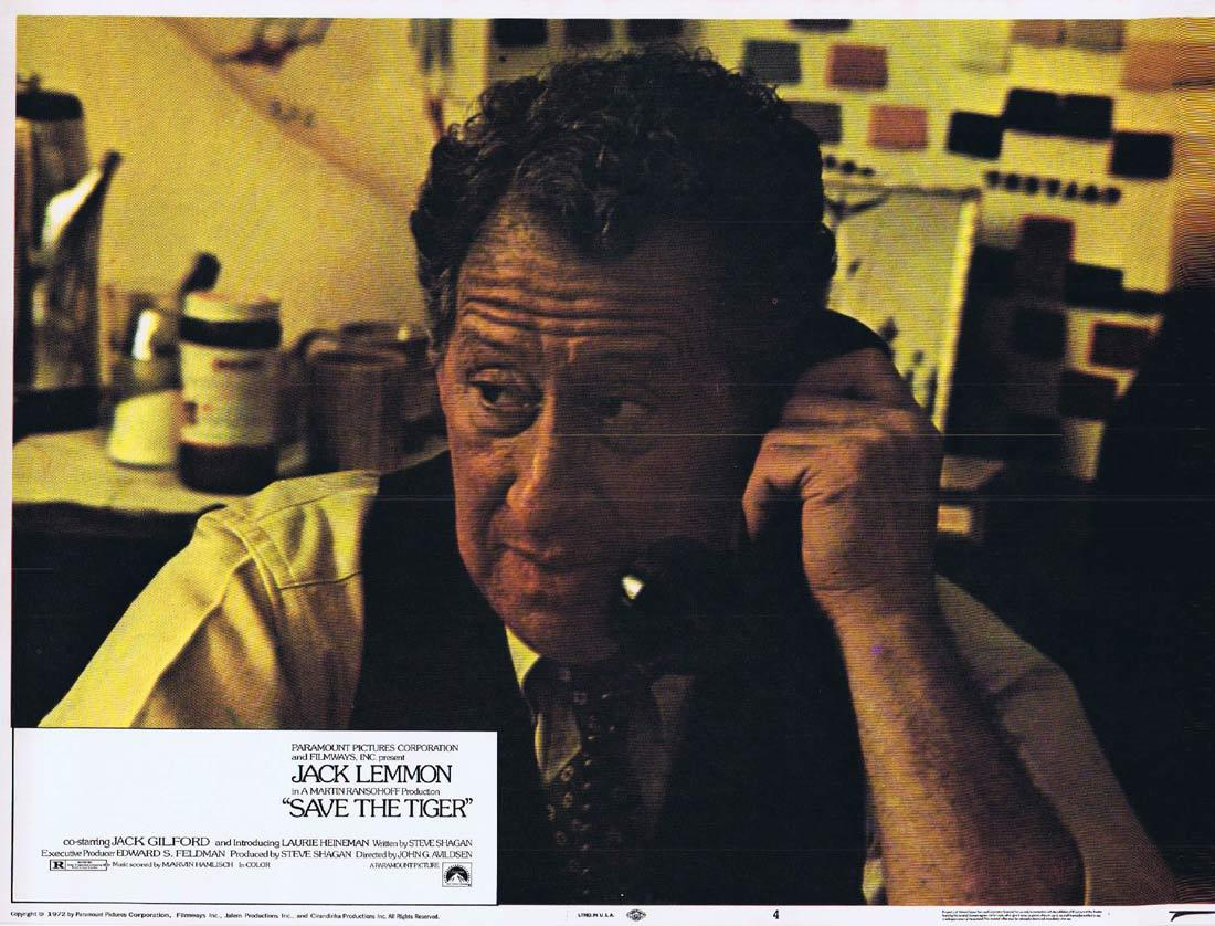 SAVE THE TIGER Lobby Card 4 Jack Lemmon Jack Gilford Laurie Heineman