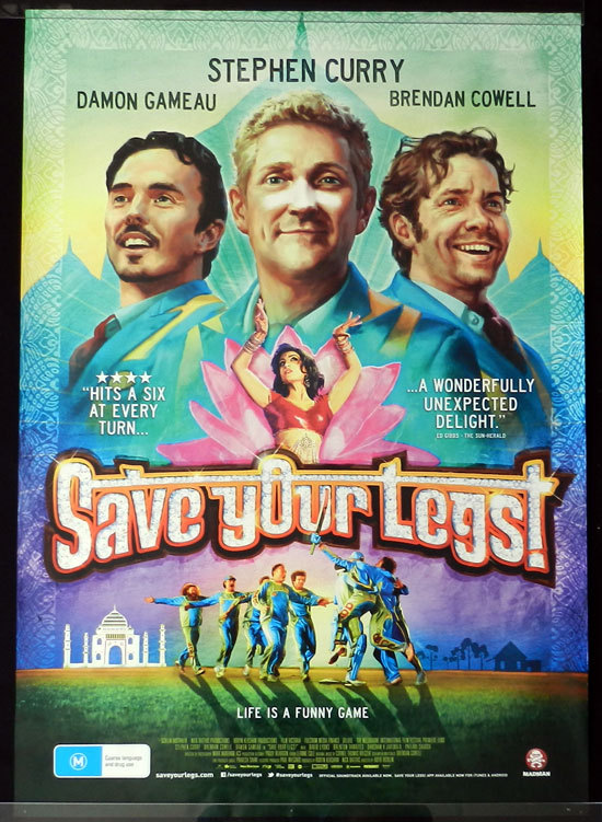SAVE YOUR LEGS 2013 Stephen Curry CRICKET Australian 1sht Movie poster