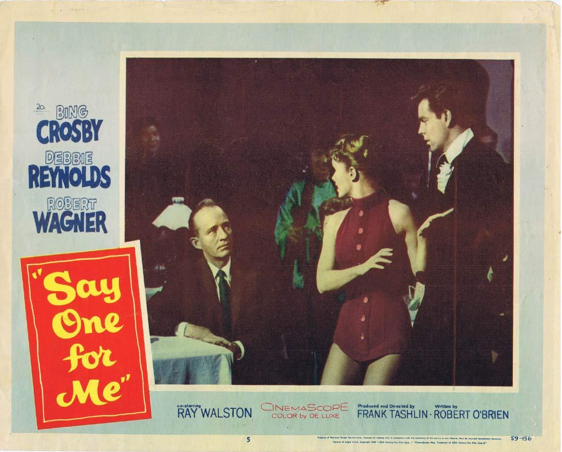 SAY ONE FOR ME Original Lobby Card 5 Bing Crosby Debbie Reynolds