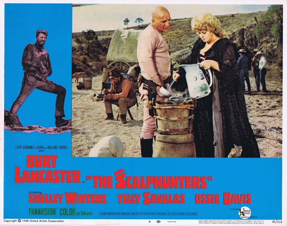 THE SCALPHUNTERS Lobby Card 8 Lancaster Ossie Davis Telly Savalas