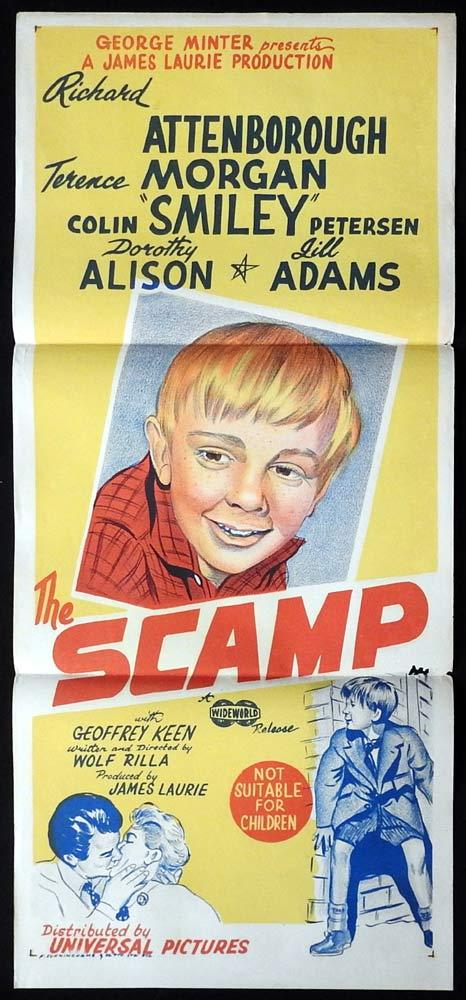 THE SCAMP Original Daybill Movie Poster Colin Petersen Richard Attenborough