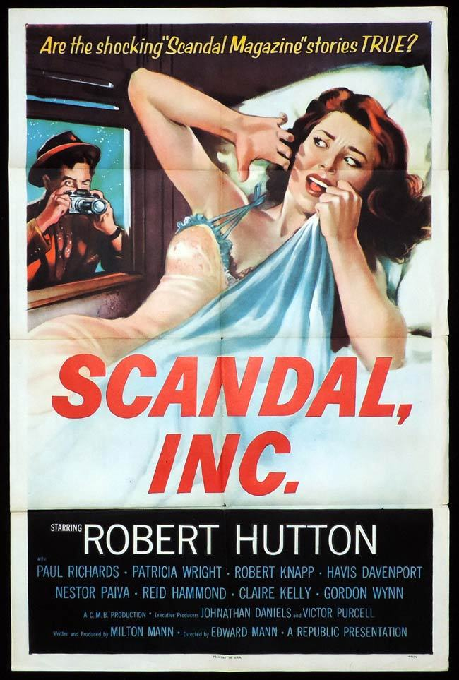 SCANDAL INC One Sheet Movie Poster Robert Hutton