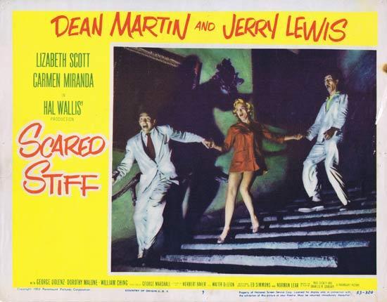 SCARED STIFF 1953 Lobby Card 7 Dean Martin Jerry Lewis Lizabeth Scott