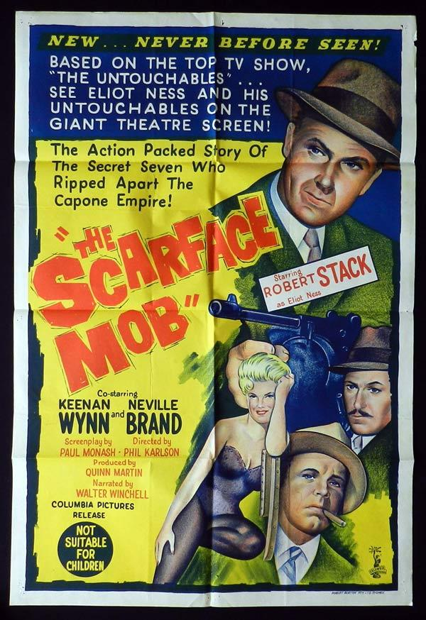 THE SCARFACE MOB One Sheet Movie Poster Robert Stack The Untouchables