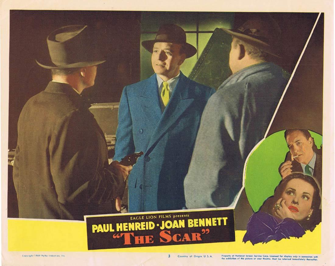 THE SCAR Lobby Card 5 Paul Henreid Joan Bennett Hollow Triumph